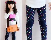(5pcs/1lot free shipping)new girls dots leggings childrens polka dot legging