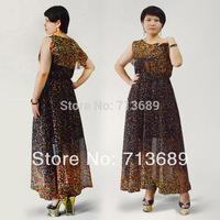 Free Shipping Factory Price New Arrival summer chiffon long dress Bohemia dress large size chiffon dress promotion S,M,L,XL