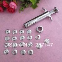 Free shipping 19 heads  Sculpting Sugar craft Tool Polymer Clay Fimo Extruder Craft Gun