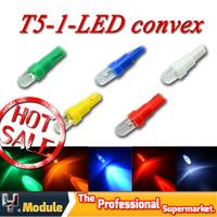 HK Post Free!!! Dashboard LED Bulb T5 37 58 70 73 74 1 LED Convex Car Wedge indicator indicator LED lamp 5 color 50pcs #YNA02