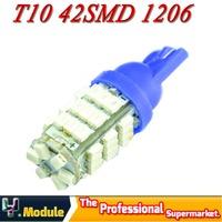 2X T10 42SMD 1206 LED SMD Car White Light Side Wedge Bulb Lamp Light Auto Bright led t10 1026 car reading led#YNB09