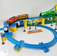 2014 Hot Sell 3D Three-layer Spiral Thomas Track Roller Coaster Toy Electric Rail train for Children Gift 2010a Moq:1 Set(87pcs)