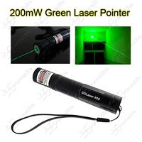 (850) High Power 200mw 532nm Laser Pointer Green Light Teaching Laser Pen (1x16340 or 1xCR123A)