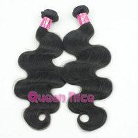 QNice Hair 6A Grade 1PCS Lot Malaysian Virgin Hair Weaves Unprocessed Malaysian Body Wave Human Hair Weave Wavy