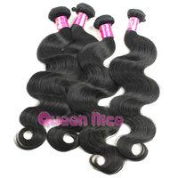 QNice Hair 100% unprocessed Malaysian virgin hair body wave 3pcs 4pcs/lot human hair