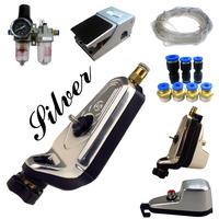 Complete Tattoo Kit Neuma Style Pneumatic Rotary Tattoo Machine Gun Kit  Silver