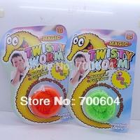Sale 12pcs/lot, 2014 Fun Kids Magic Twisty Worm, Noverty toys, Kids Gift, Wholesale, Mixed Colors, WJ13001