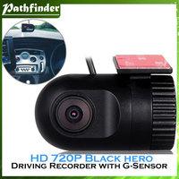 Model:Black Hero COMS 1.3 M HD 720P Drive Recorder with Motion Detection, Three-Axis Gravity Sensor (Black)