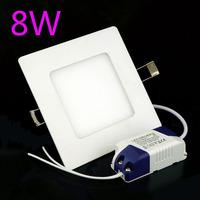 8W Led Ceiling Light Warm White /White Led Light AC85-265V Led Square Panel Light , 2pcs/Lot Free Shipping