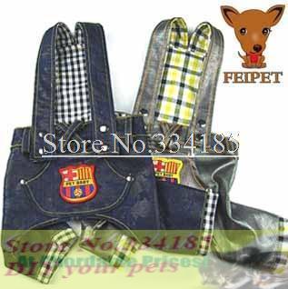 Discount Sale! Promotion!Free shipping dogs clothes,princess spoil dog clothing braces jeans plaid jeans clothes back,hot sales!