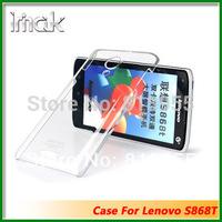 freeshipping Genuine Brand IMAK Crystal series PC Ultra-thin Hard Skin Case Cover Back For Lenovo S868t,10pcs/lot