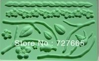 Free shipping  Fondant tool flower shape baking mold silicone embossing die sugar Arts flower