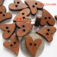New wooden buttons Home decor Diy Accessories bulk wood button mixed for crafts 100pcs/lot E-28