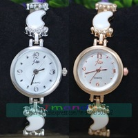 100pcs/lot JW-3398 Fashion Ladies Quartz Watch Excellent Design Foot Style Bracelet Dress Watch Rose Gold Color Alloy Watch