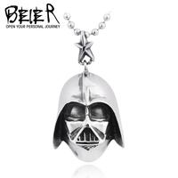 TITANIUM Steel Pendant Necklace Star Wars Darth Vader Mask pendants Jewelry Man  Free Shipping BP1183