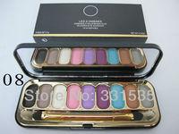 1PCS High quality Professional CC brand Makeup 9 colors powder Eyeshadow palette +mirror 21g Free shipping