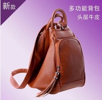 2014 women genuine leather preppy style cowhide backpack travel tote bag shoulder tote bag messenger bag LF06495