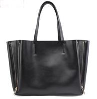 Aliexpress Shopping Festival 100% Gnuine Leather Bags 2014 women's fashion  handbag travel star style shoulder bag free shipping