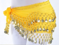 Free shipping 128 coin belly dance waist decoration belly dance costumes/belt Stage & Dance Wear S0111