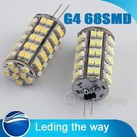 10 x G4 4.5W 400-Lumen 6500K 68 SMD 3528 LED Car Light Pure White Bulb Lamp DC 12V