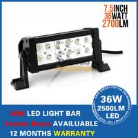 2 PCS 7.5 inch 36W 12V 24V offroad LED light bar heavy duty 36 Watt Off road work lamp Combo Beam Pattern LED bar