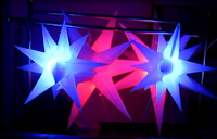 1.5m  led light inflatable star for bar/stage/event hang ceiling
