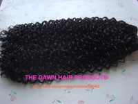 "3 Pieces 1B# 8""-18"" Mixed (50% Human Hair&50% Futura Heat Resistant Fiber) Jerry Wave Curl Weave Weft Weaving Hair Extension"