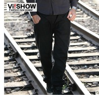 viishow2013 spring models a new European and American style casual pants men casual fashion solid color Slim casual pants