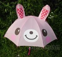 Rabbit  Kids Childrens Cartoon Animal Umbrella Free Shipping
