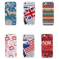 NEW colorful cell phone case for iphone 4 4s 5 5s coloured painting cute cartoon  Tribal Tribe Pattern hard back cover shell