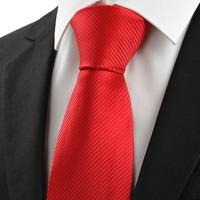 Wonderful Wedding Tie Men's Neckties Red Stripe Silk Classic Woven Men's Ties