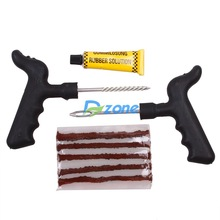 Car Bike Auto accessoriesTubeless Tire Tyre Puncture Plug Repair Tool Kit Safety 5 Strip  #23562(China (Mainland))