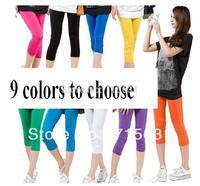 2014 Fashion Women Plus Size Pants Capris Thin Legging 9 Color Choose Casual Pants L XL XXL XXXL XXXXL  WP-9001