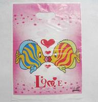 30*40cm, love logo gift bag plastic plastic bags , garment bag shopping bag
