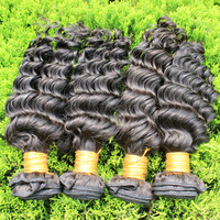 Cheap mongolian hair Free shipping remi hair deep wave 3pcs/lot natural color can be dyed  grade 5a hair bundles Unprocessed