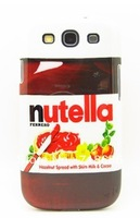 Hot selling Nutella chocolate case for samsung galaxy s3 telephone cases covers to samsung i9300 9300 retail&wholesale