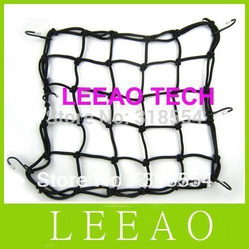 1pcs/lot 30x30CM Motorbike Motorcycle Cargo 6 Hooks Hold Down Net Bungee Helmet Web Mesh Free Ship(China (Mainland))