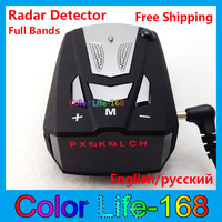 New! 100% Factory price Car Radar detector support English and Russian language 360 free shipping