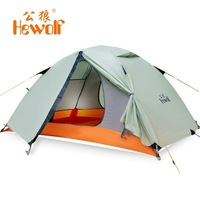 Hewolf Outdoor Double Layer Tent Camping Tent (Tenda)  Aluminum Size:200*140*110CM 1595 About 2.65KG