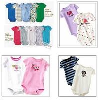 HOT SALE!!! 3-24M 5pcs/lot summer Newborn Carters' Short Sleeve Clothes,100% cotton Baby Bodysuit,Jumpsuit,carters Baby boy girl