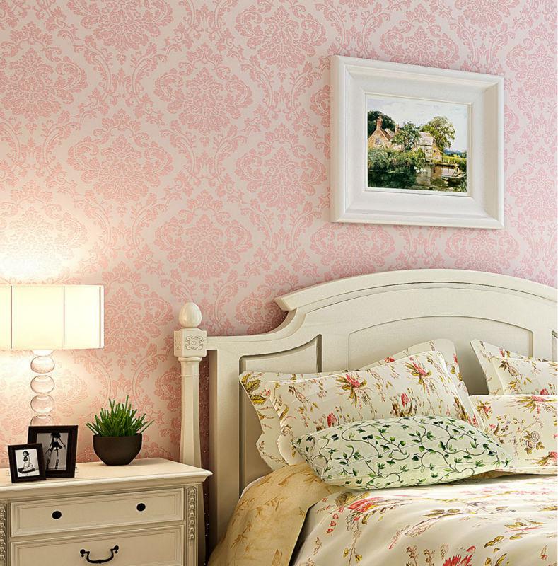 Achetez En Gros Fond D écran Antique En Ligne à Des: Victorienne De Prestige Vintage Light Pink Damassé Tissu