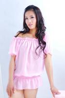 Free shipping cute pink women sexy lingerie bat shirt sexy sleepwear + underwear (Dress+Underwear)