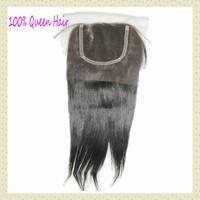 "6A Georgous Malaysian lace closure unprocessed virgin straight hair 10""-20""inch, soft&silky,WestKiss hair"