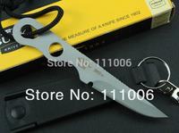 Free Shipping Hong Kong packet BUCK 160 Doug Hartsook Small Neck Knives Outdoor Hunting Knife Mini Fixed Blade Knife white/black