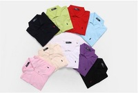 Free shipping Men cotton short-sleeved T-shirt  pony standard  POLO drop shipping
