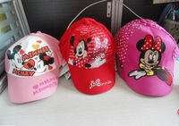 Free shopping 2013 New  Bonnet wholesale  Mickey hat sunhat baseball limpet mine cap for children cool caps 3 styles