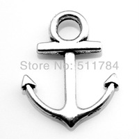 100pcs/lot 19*15mm 4 Colors Anchor Charm