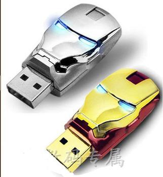 New hot  Avengers Iron Man LED Flash usb drive  2GB 4GB 8GB 16GB 32GB  USB Flash Pen disk