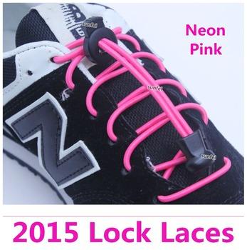 2015 Single Hole Lock Laces~50 Lace colors~No Tie Elastic Shoelace with Locks~Amazon/Ebay Custom Lock Laces~DHL FREE SHIPPING