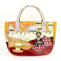 TB New 2013 Women Myth Arabia Flying Carpet Theme Handbags Bolsas Designers Brand Female Retro Shoulder Big Tote Bags